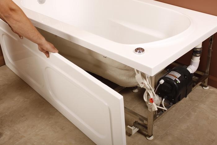 установка акриловой ванны своими руками на каркас видео